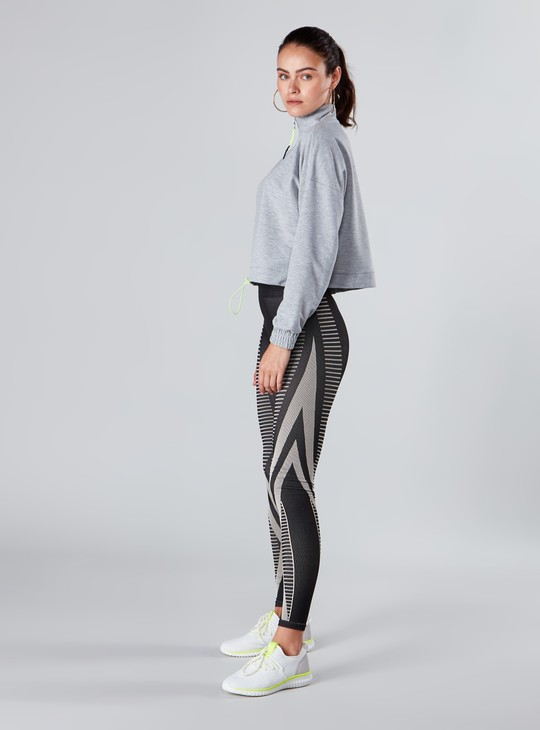 Slim Fit Full Length Printed Leggings with Elasticised Waistband