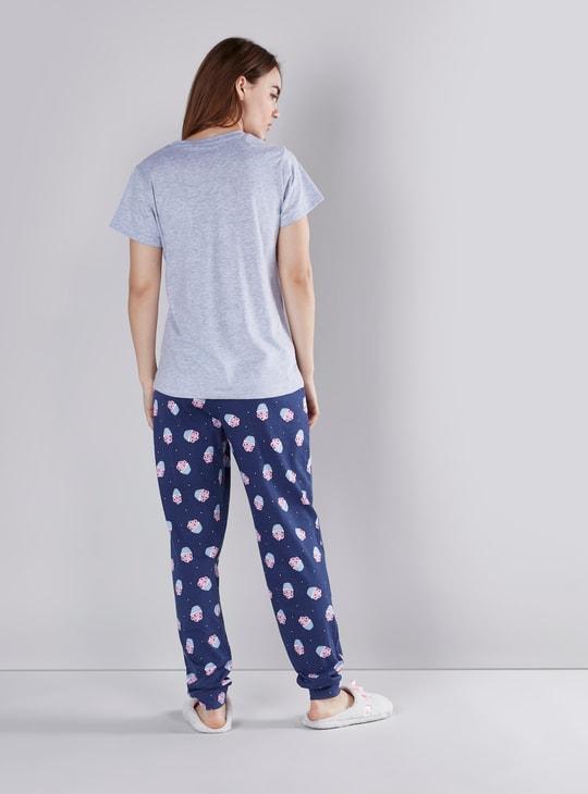 Printed 3-Piece Nightwear Set