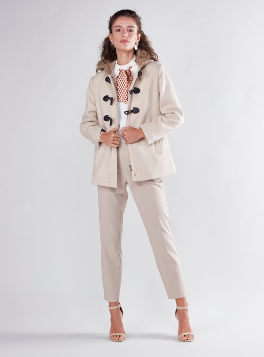 Parka Coat with Toggle Closures and Hood