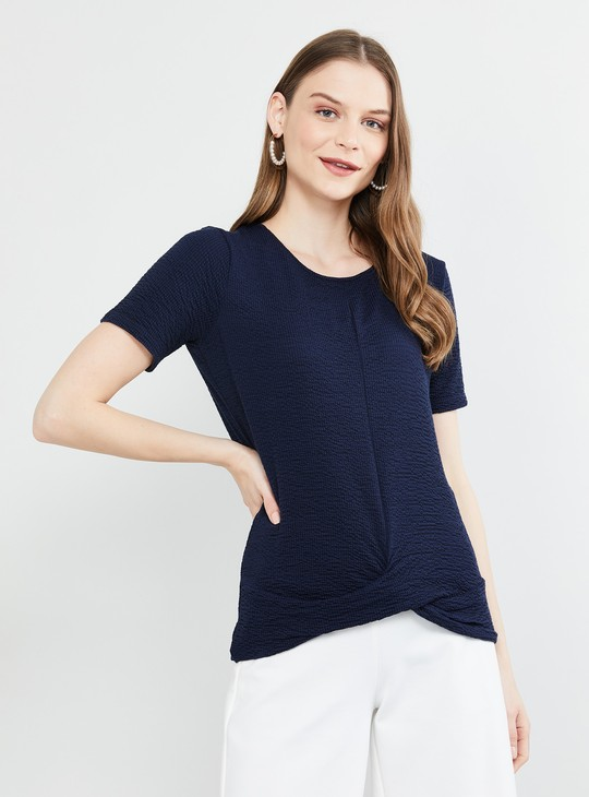 MAX Solid Knotted Detailed Top