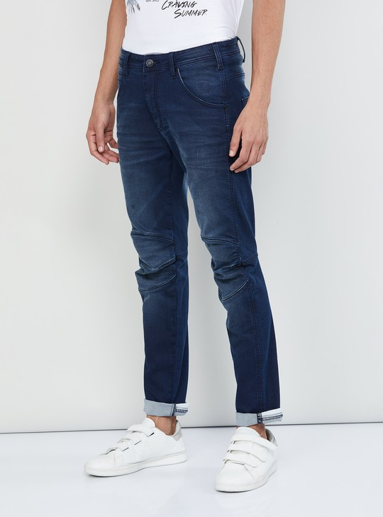 MAX Stonewashed Panelled Skinny Fit Jeans