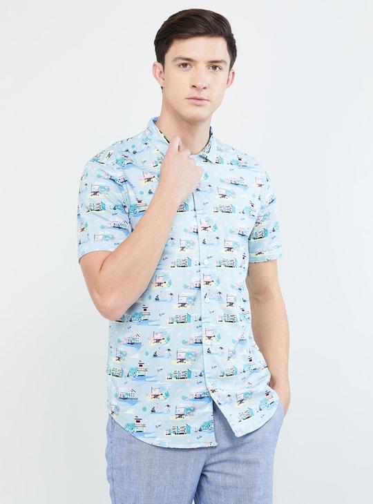 MAX Printed Slim Fit Casual Shirt