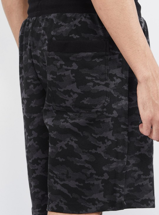 MAX Camouflage Print Drawstring Waist Training Shorts