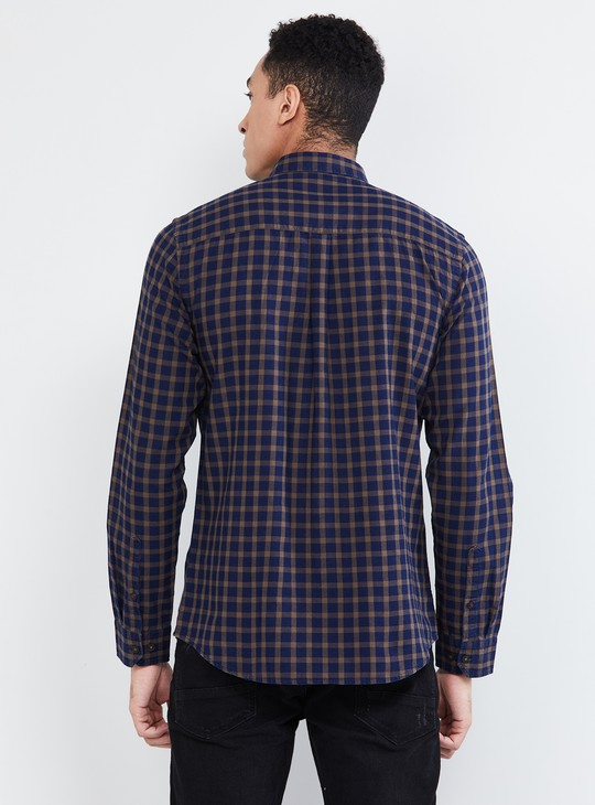MAX Gingham Check Slim Fit Casual Shirt