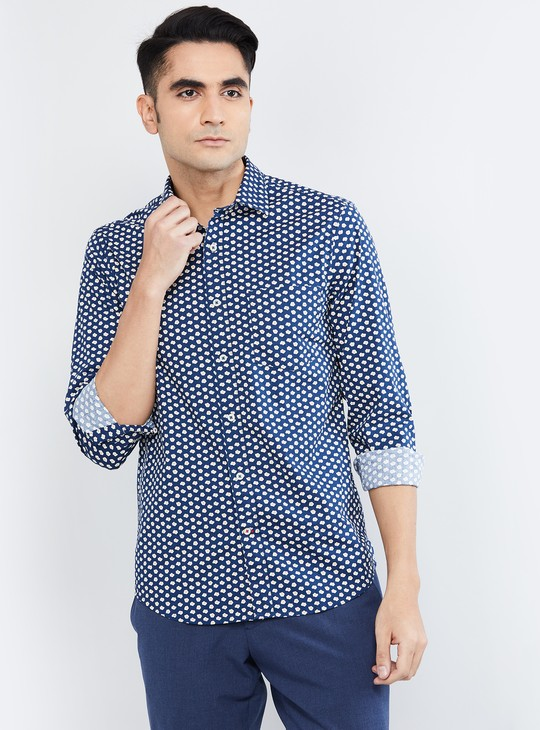 MAX Printed Casual Slim Fit Shirt with Patch Pocket