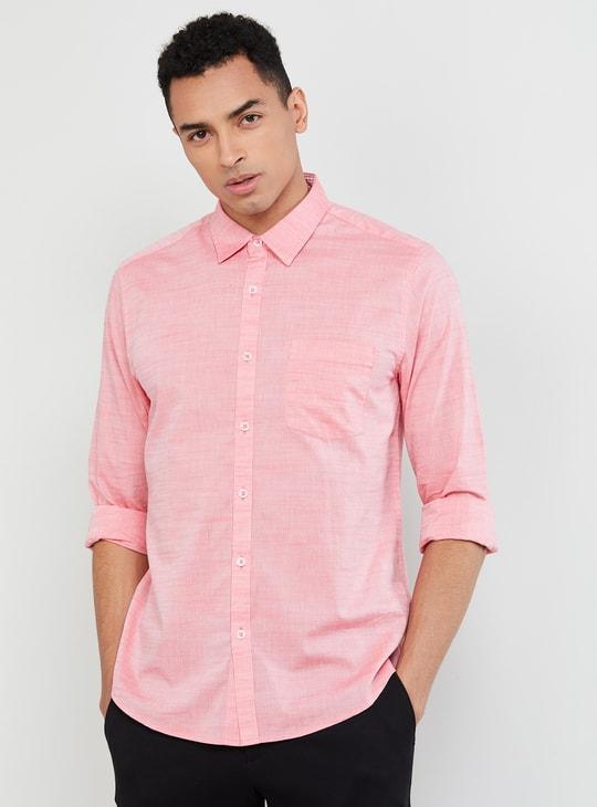 MAX Textured Slim Fit Casual Shirt