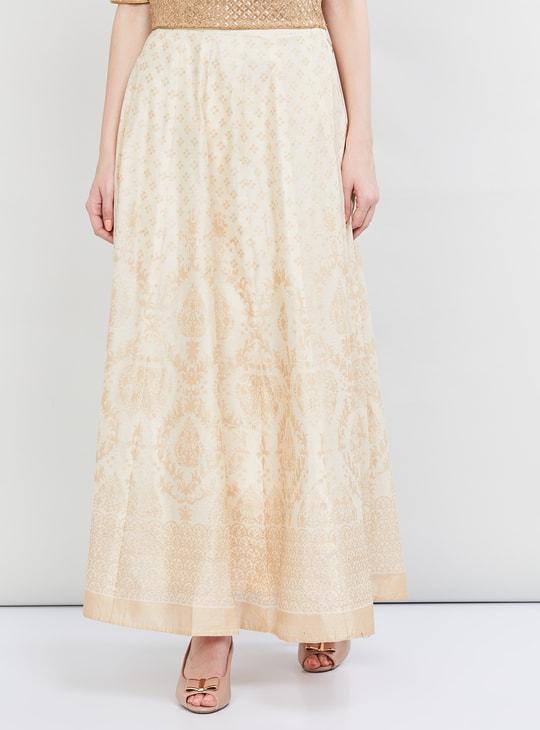 MAX Foil Print Elasticated Skirt