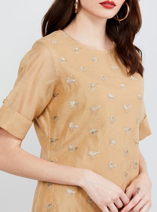 MAX Embroidered Short Sleeves Kurta