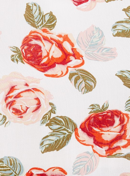 MAX Floral Print Asymmetric Dress