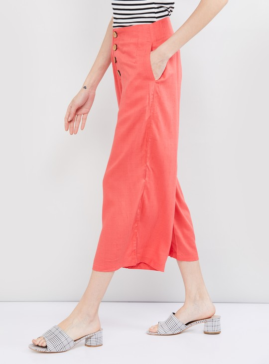 MAX Solid Cropped Palazzos