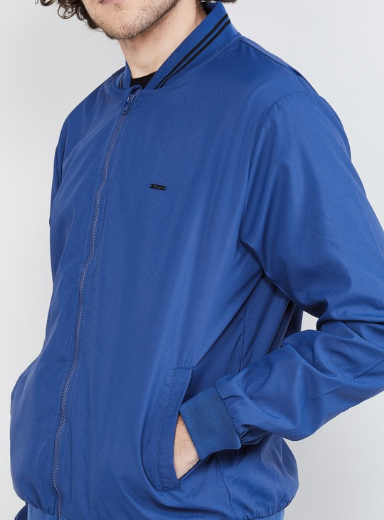 MAX Solid Full Sleeves Bomber Jacket