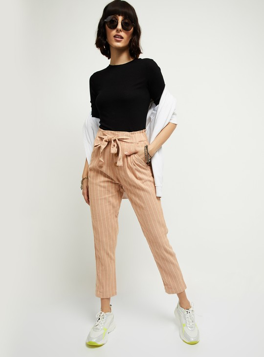 MAX Striped Pleasted Pants
