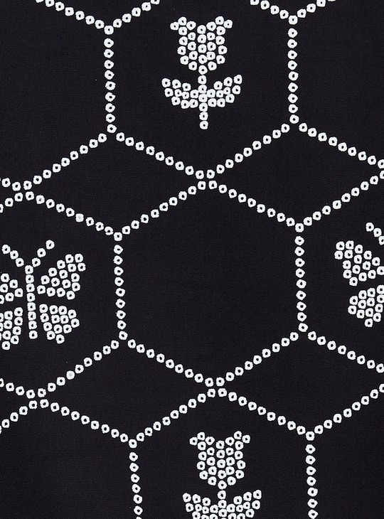 MAX Printed Three-Quarter Sleeves Eco Liva Kurta