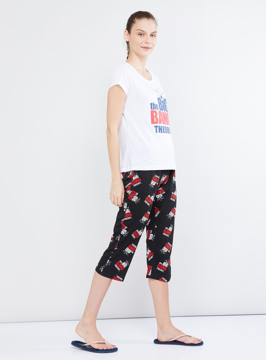MAX The Big Bang Theory Print Lounge T-shirt with Capris