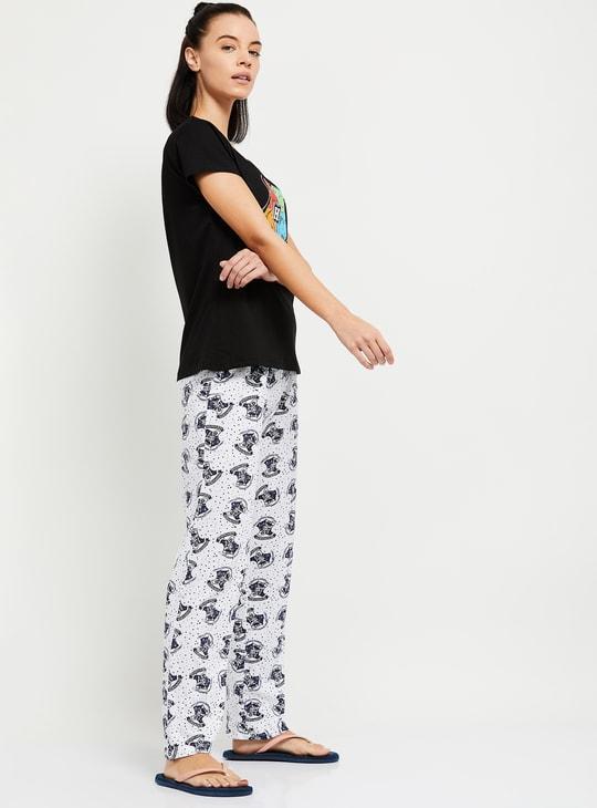MAX Harry Potter Print Lounge T-shirt with Pyjama Pants