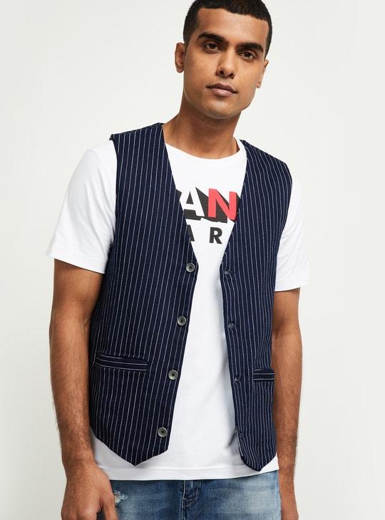 MAX Striped Waistcoat