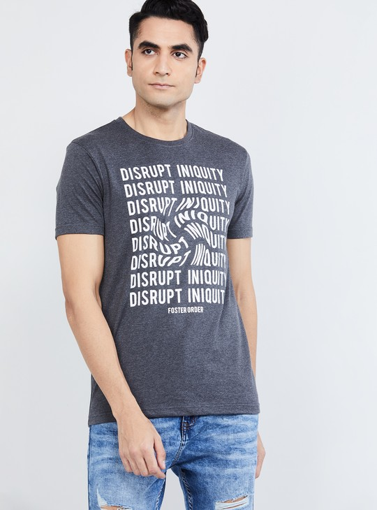 MAX Typographic Print T-shirt