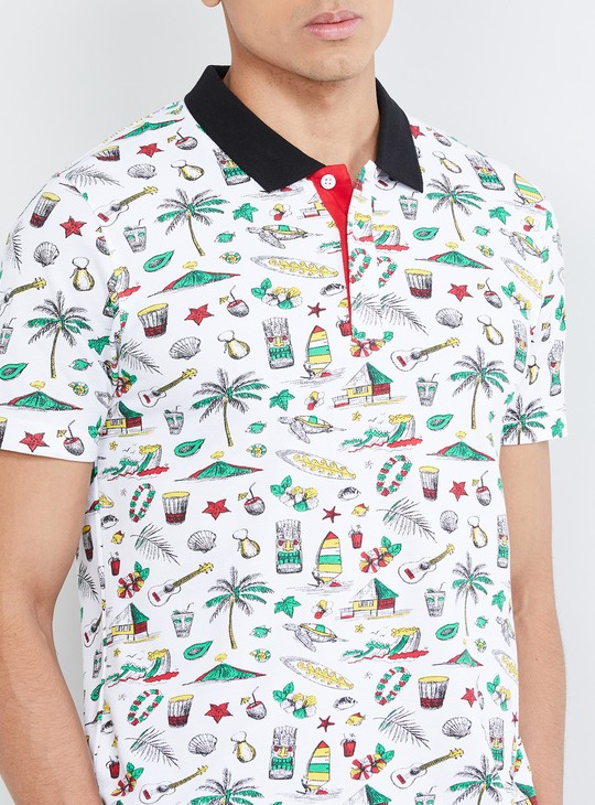 MAX All-Over Print Polo T-shirt