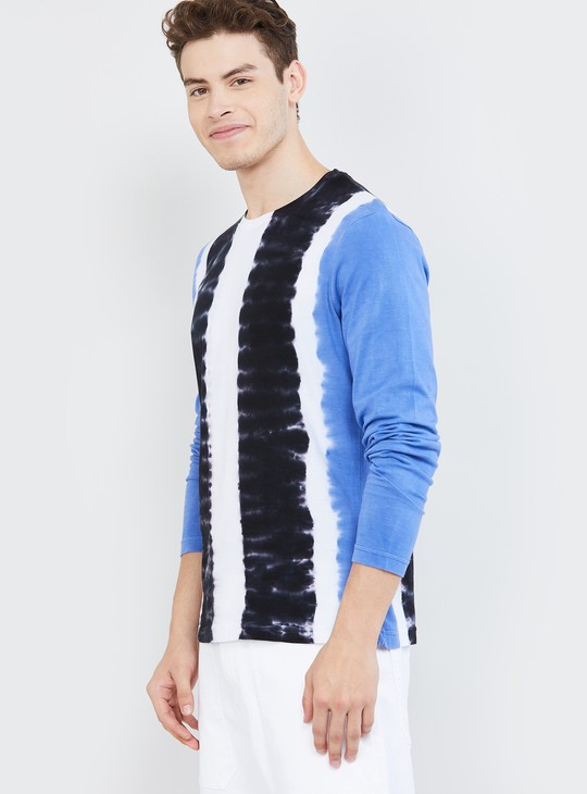 MAX Ombre Pattern Slim Fit Crew Neck T-shirt