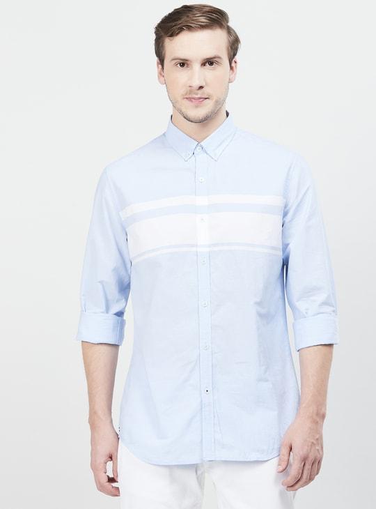 MAX Colourblocked Casual Slim Fit Shirt