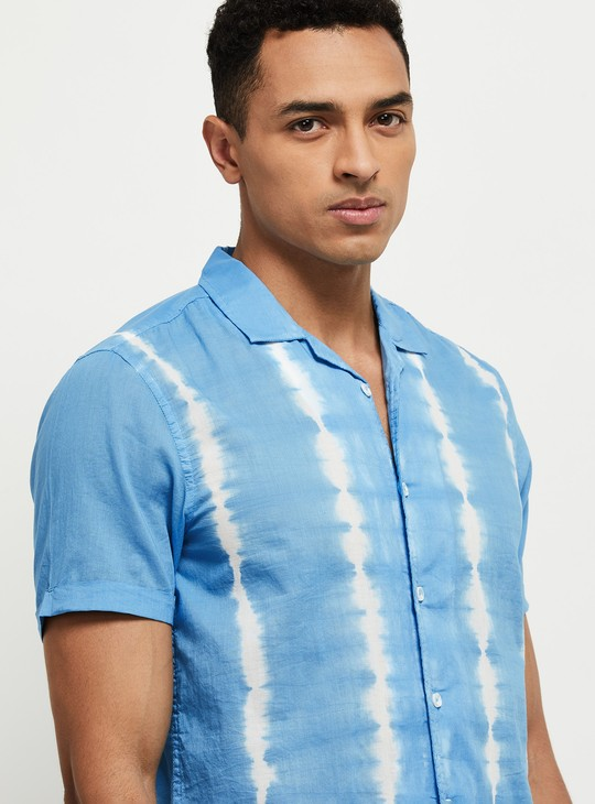 MAX Tie and Dye Slim Fit Casual Shirt