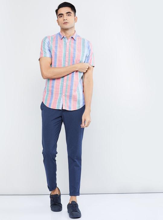 MAX Striped Short Sleeves Casual Shirt