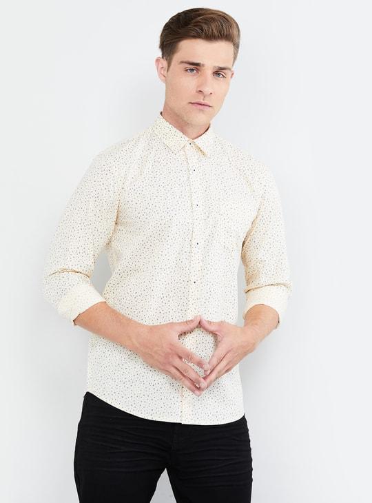 MAX Printed Full Sleeves Casual Slim Fit Shirt