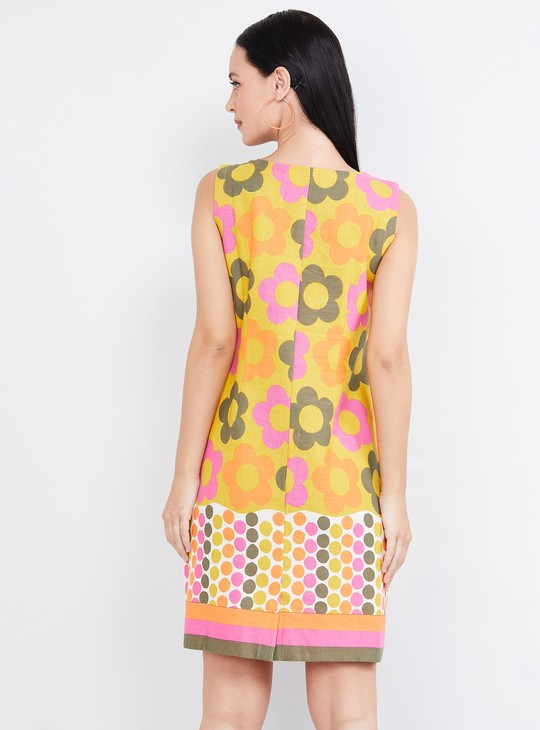 MAX Floral Print Sleeveless Shift Dress