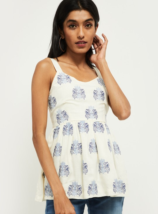 MAX Floral Printed Sleeveless Top