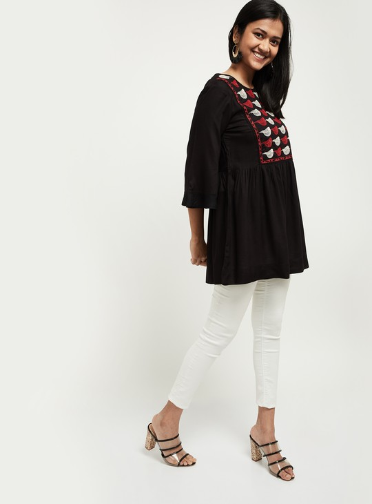 MAX Embroidered Flared Tunic