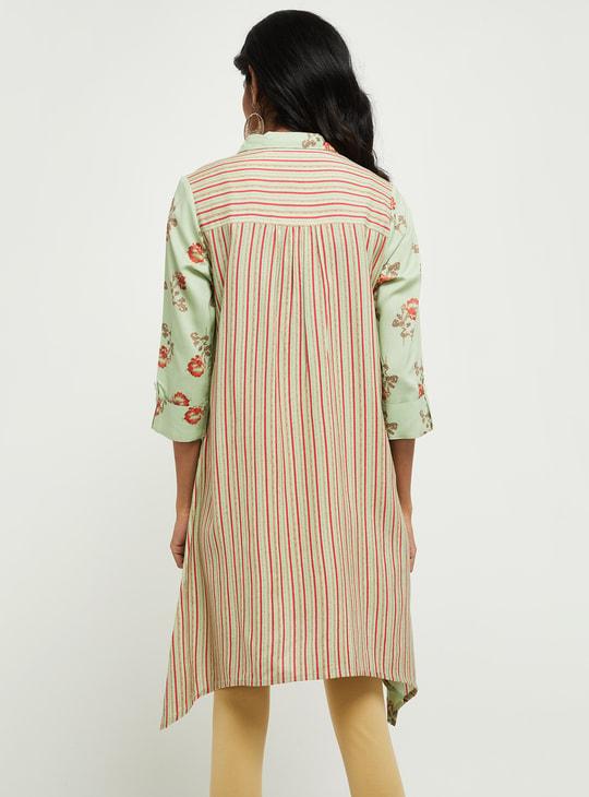 MAX Floral Print Flared Shirt Tunic
