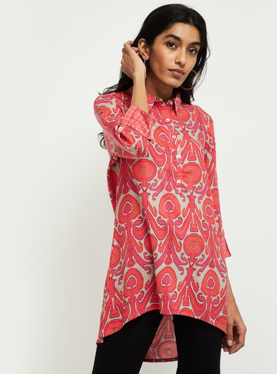 MAX Floral Print High-Low Tunic