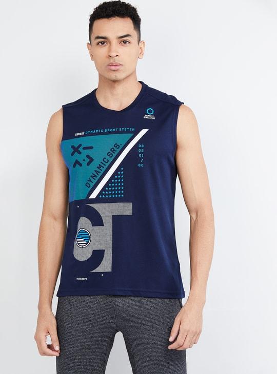 MAX Freshon & Neudri by N9 Printed Slim Fit Crew Neck T-shirt