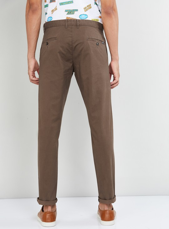 MAX Textured Skinny Fit Casual Trousers