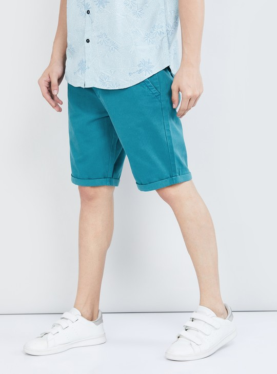 MAX Textured Stretchable Casual Shorts