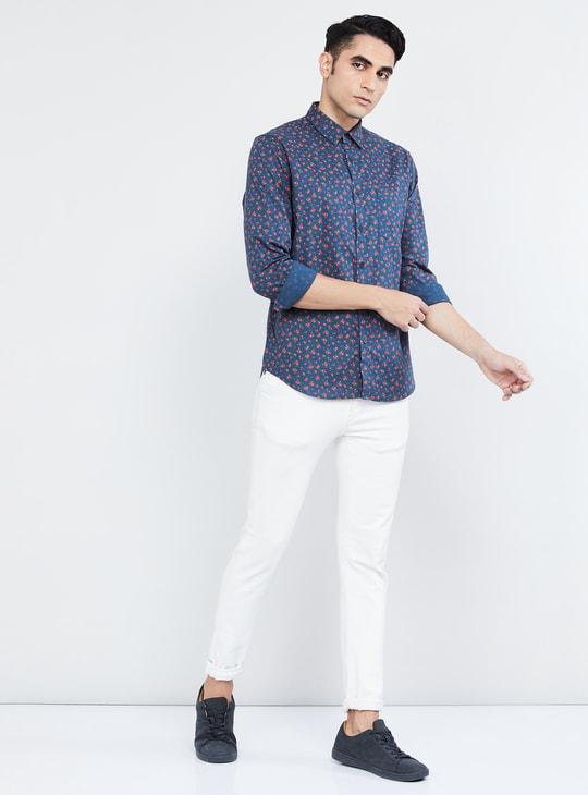 MAX Floral Print Full Sleeves Casual Slim Fit Shirt