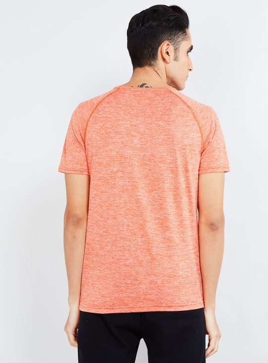 MAX Textured Crew Neck T-shirt