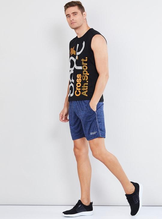 MAX Textured Regular Fit Sports Shorts