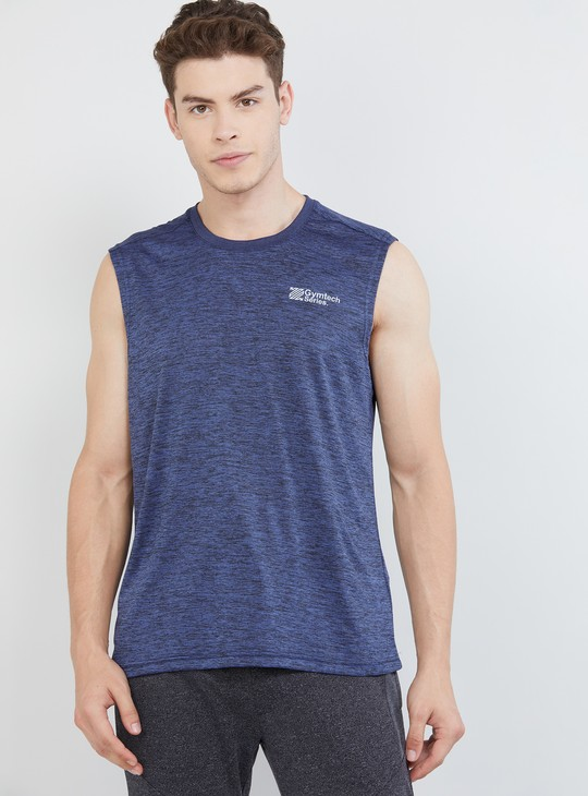 MAX Freshon & Neudri by N9 Solid Sleeveless Sports T-shirt