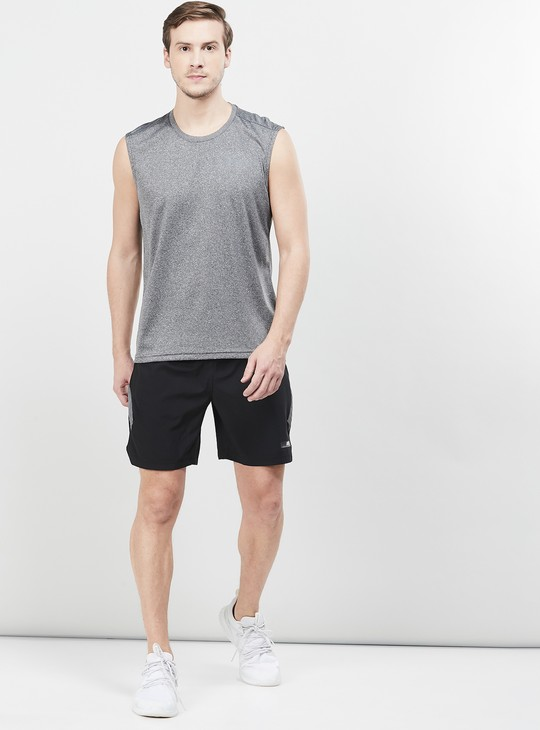 MAX Freshon & Neudri by N9 Solid Crew Neck Sports T-shirt