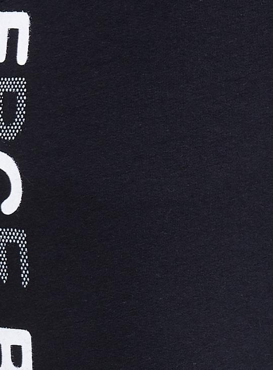 MAX Typographic Print Drawstring Waist Track Pants