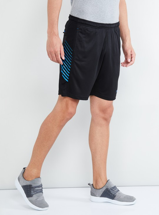 MAX Freshon & Neudri by N9 Printed Elasticated Shorts