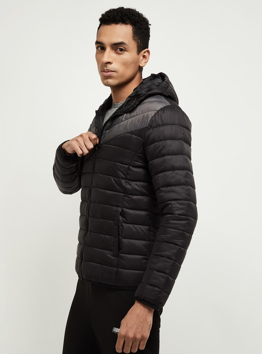 MAX Ombre Pattern Puffer Jacket