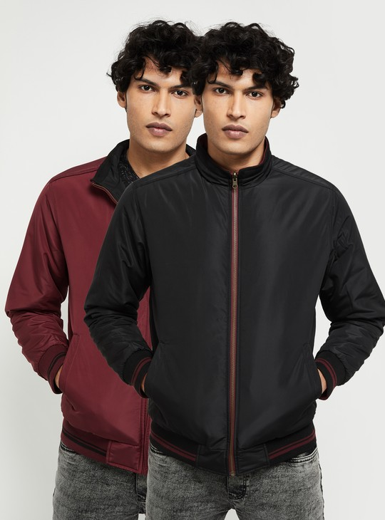 MAX Solid Reversible Bomber Jacket
