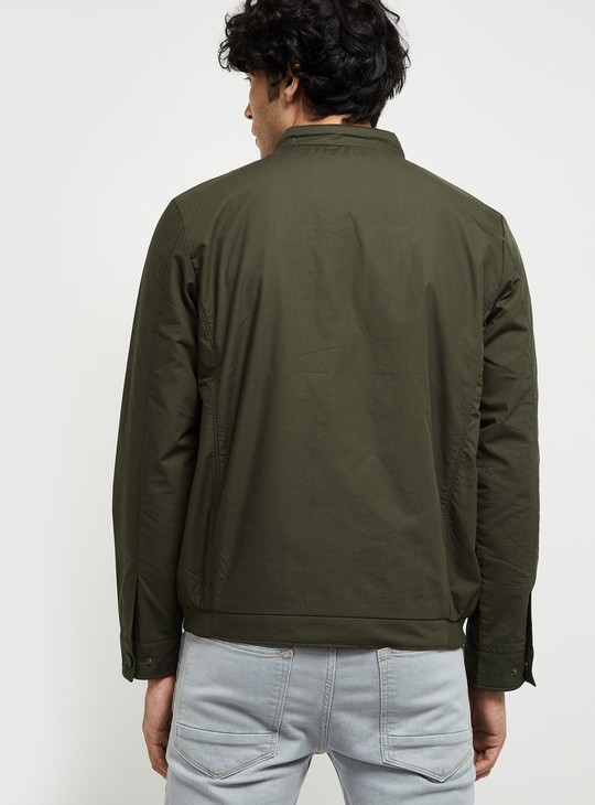 MAX Solid Padded Bomber Jacket