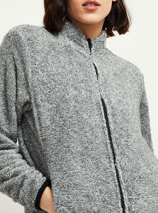 MAX Zip-Front Jacket with Faux-Fur Trim
