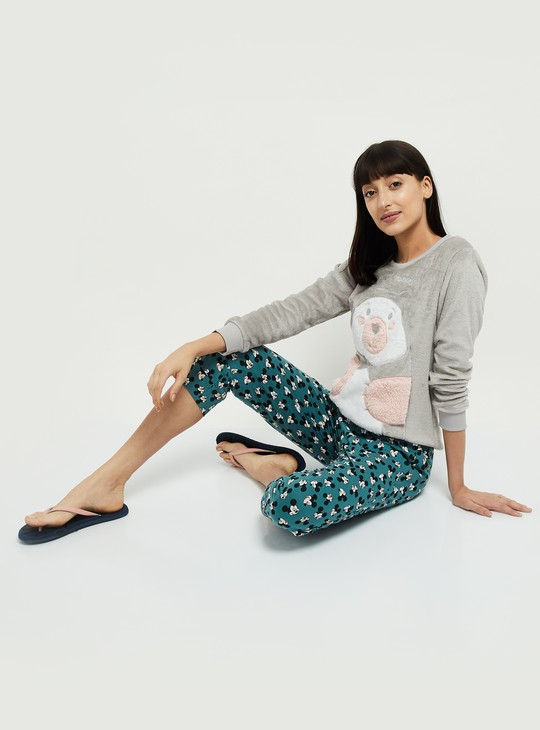 MAX Embroidered Round Neck Lounge Sweater