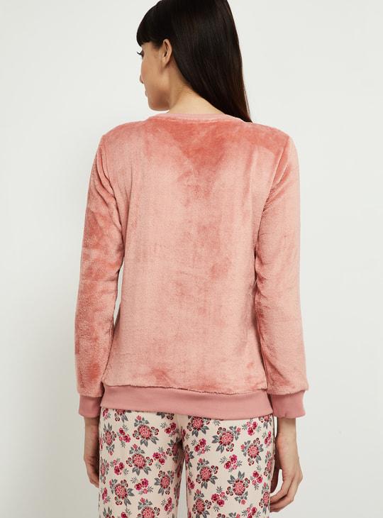 MAX Embellished Round Neck Lounge Sweater