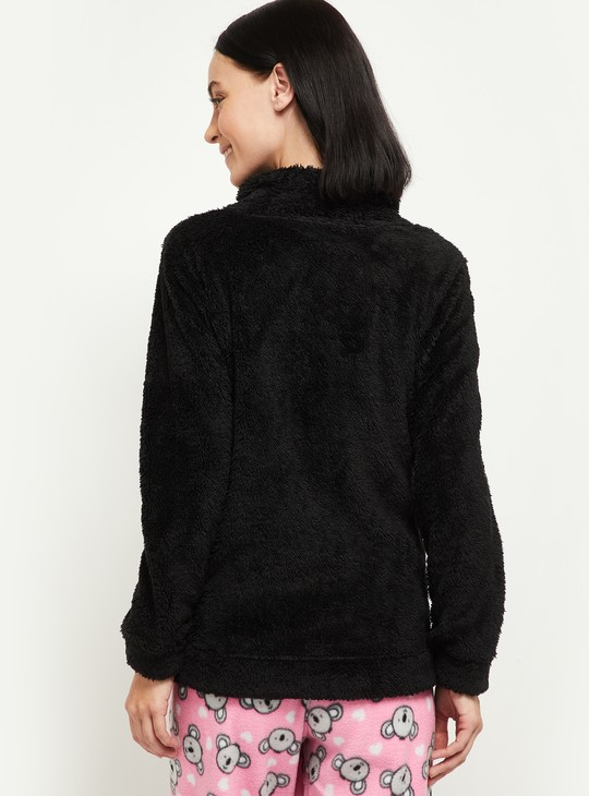MAX Solid Fuzzy Night Sweater