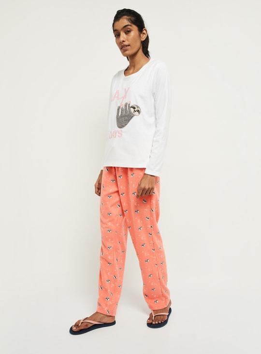 MAX Embroidered Lounge Sweatshirt with Pyjamas